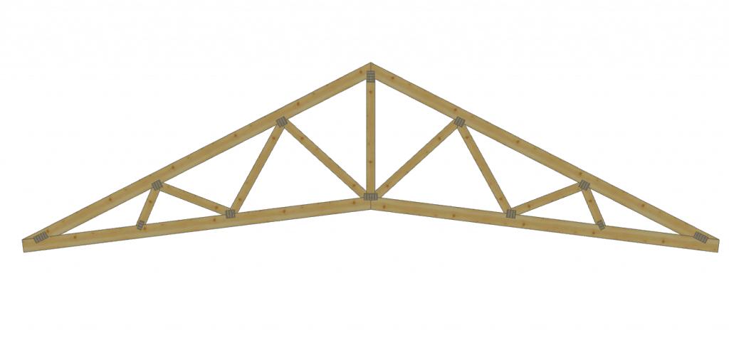 Wiązar nożycowy, symetryczny